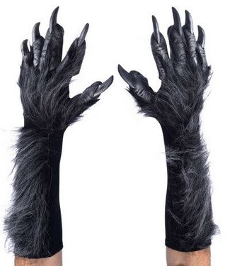 zagone studios New Killer Wolf Gloves/Hands, Grey