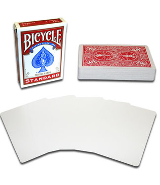 United States Playing Card Company Blank Face Bicycle Cards - Red (M10)