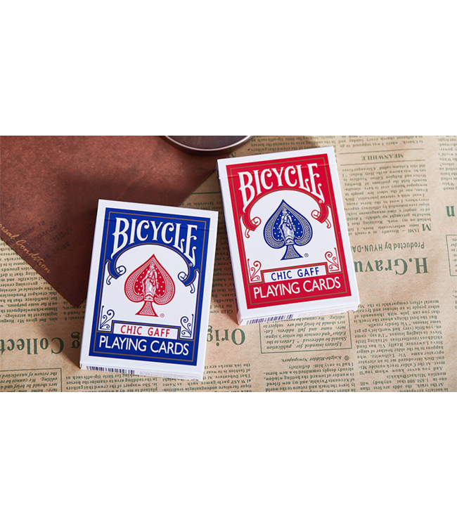 Bicycle Chic Gaff, Red Playing Cards by Bocopo M10