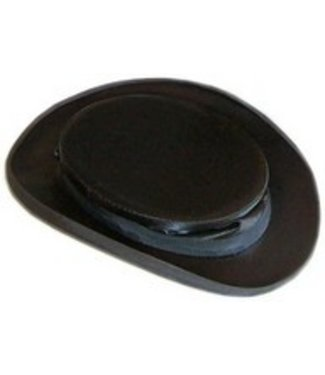 Collapsible Black Silk Top Hat 7 1/2