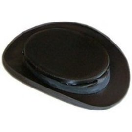 Collapsible Black Silk Top Hat - 7 1/8 by Top Hats Of America DBA Krieger Top Hats