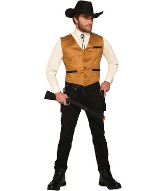 Forum Novelties Cowboy Vest Brown Adult One Size by Forum Novelties