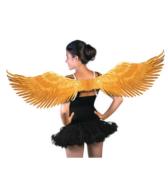 Forum Novelties Gold Metallic Feather Wings by Forum Novelties