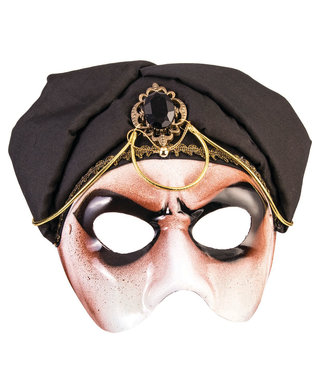 Forum Novelties Male Black Scarf Half Mask by Forum Novelties