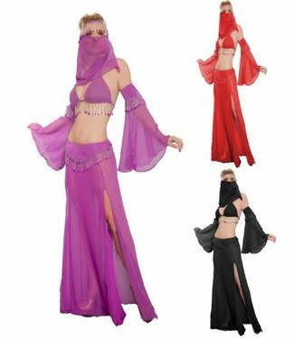 Belly Dancer 6 pc., Adult Red S/M by Western Fashion