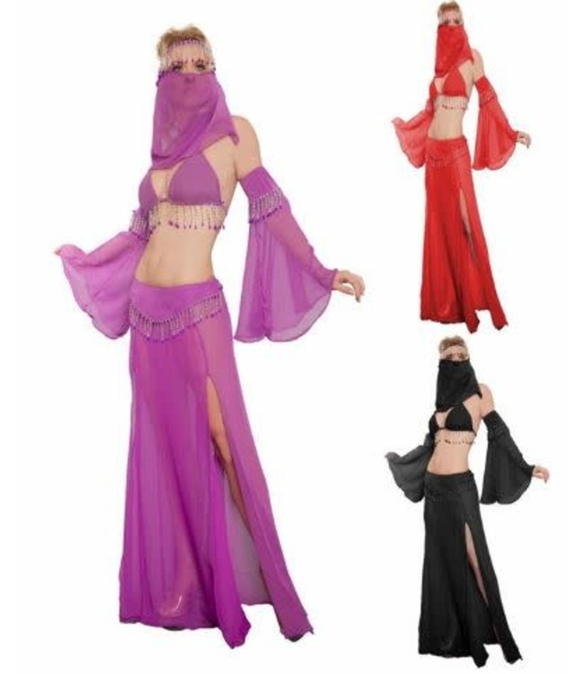 Belly Dancer 6 pc., Adult Black S/M by Western Fashion