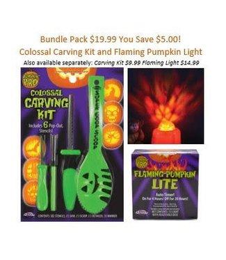 Carving Kit and Pumpkin Light Bundle Pack
