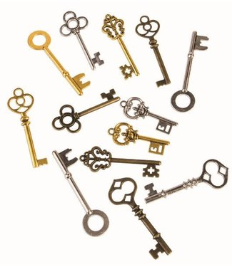 Steampunk Keys, 12 Piece by Forum Novelties