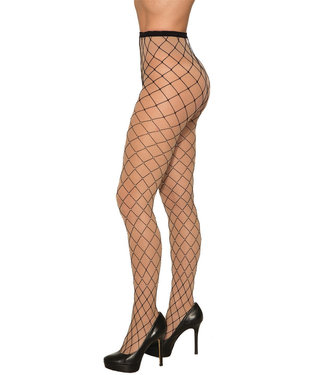 Rubies Costume Company Wide Fishnet Tights Black W/Rhinestones by Forum Novelties