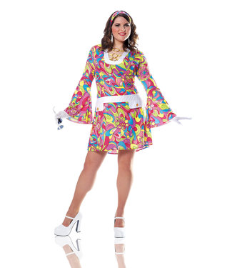 Groovy Chick Adult Plus Size 1XL by Costume Culture By Franco LLC