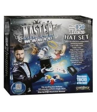 Master Magic 150 Tricks Magic Hat Set by Eddys Magic