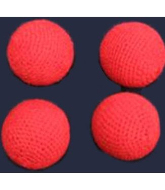 "Crocheted Balls, 4 Pack Wool Over Plastic 1"" by The Essel Magic"