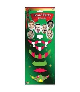 Forum Novelties Christmas Beards 6 Set