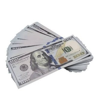$100 Bill New Style Prop Money - Each