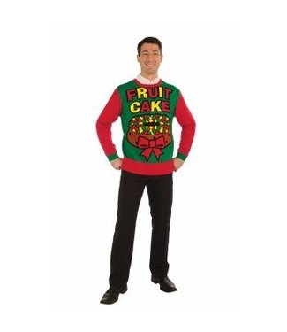 Forum Novelties Christmas Sweater, Fruit Cake - LG 42-44