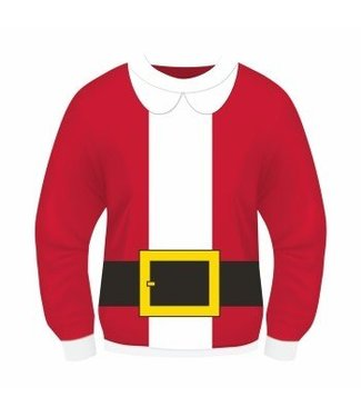 Forum Novelties Christmas Sweater, Santa Suit - XL 46-48