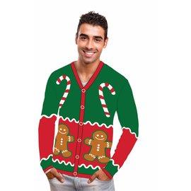 Forum Novelties Christmas Sweater, Christmas Candy Cardigan - XL 46-48