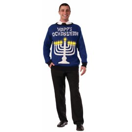 Forum Novelties Chanukah Sweater (Light Up Menorah!) - XL 46-48