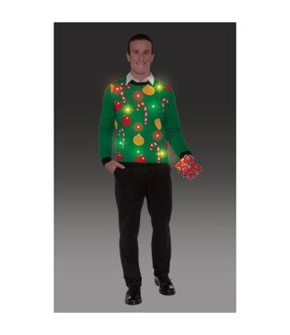 Forum Novelties Christmas Sweater, 'Tis The Season - XL 46-48