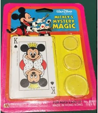 Vintage Mickey's Mystery Mgc Chngng Crd/Mgc Dsc by Monogram Products Inc.