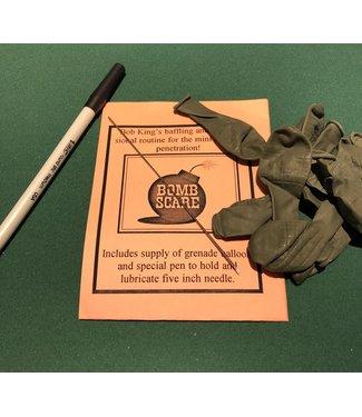 Bomb Scare mini needle through balloon by Bob King M10