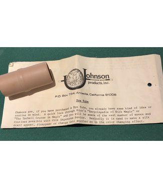 Used Dye Tube by Johnson Precision Magic Products Inc