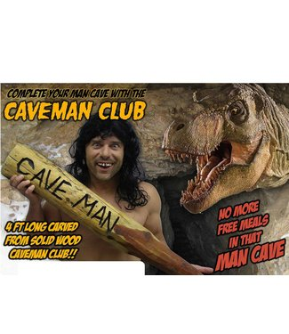 Billy Bob Products Caveman Club - Real Wood
