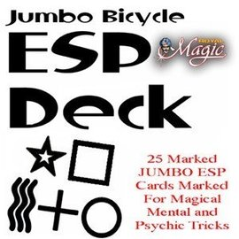 Jumbo Marked ESP Cards - Bicycle by Royal Magic