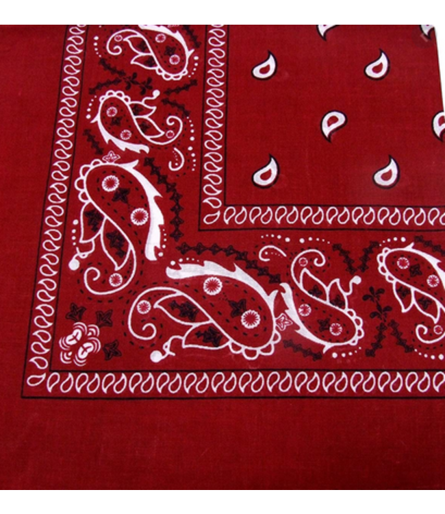 Burgundy Bandana, Cotton