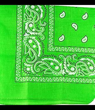 Lime Green Bandana, Cotton