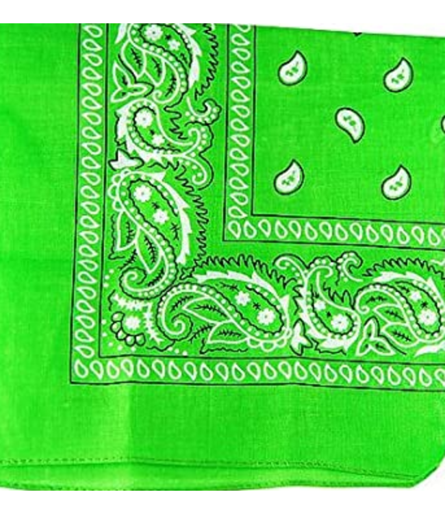 Lime Green Bandana, Cotton