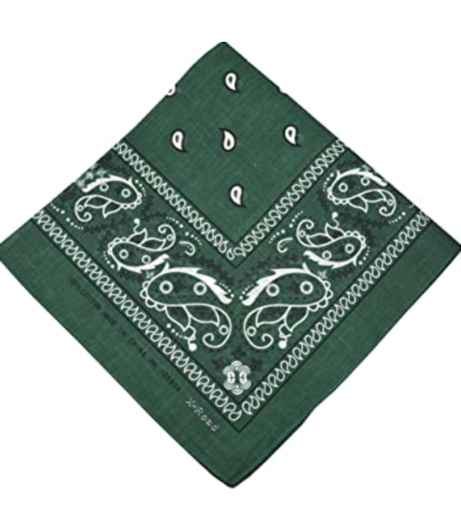Hunter Green Bandana, Cotton