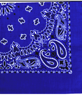 Royal Blue Bandana, Cotton