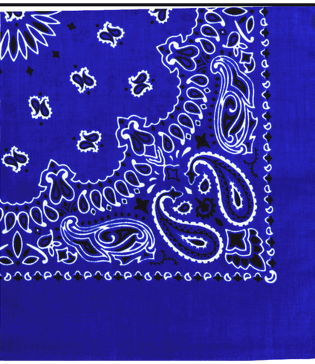 Royal Blue Bandana, Cotton