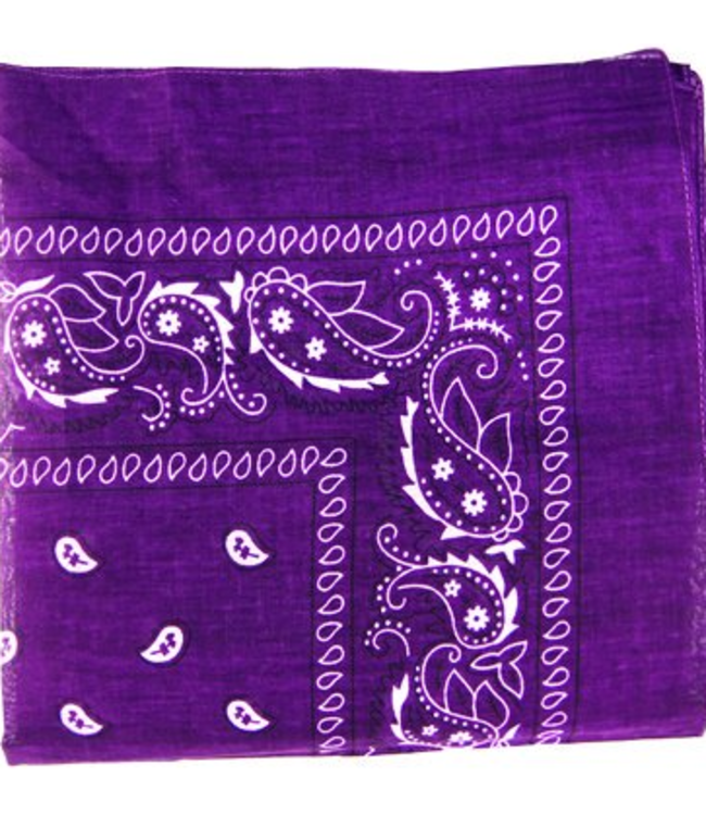 Purple Bandana, Cotton