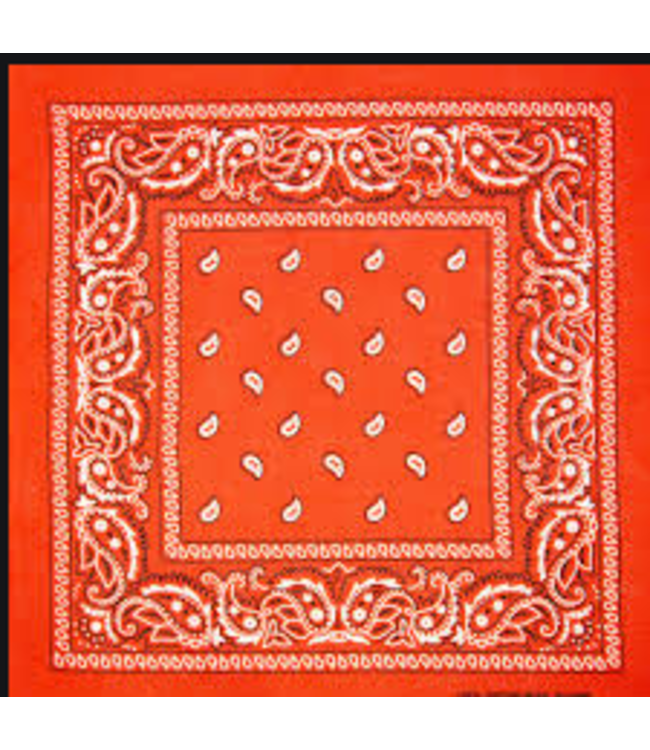Orange Bandana, Cotton