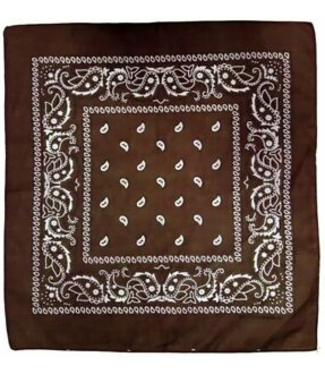 Brown Bandana, Cotton