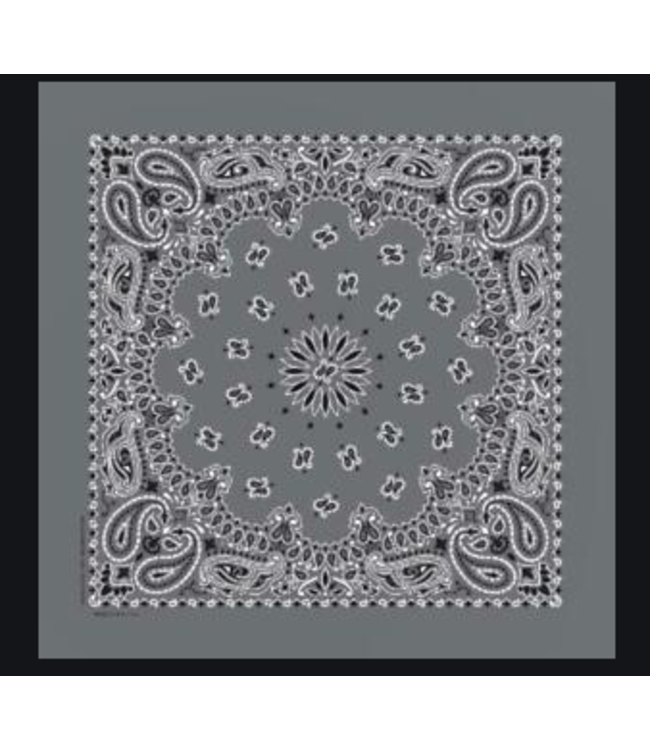 Gray Bandana, Cotton