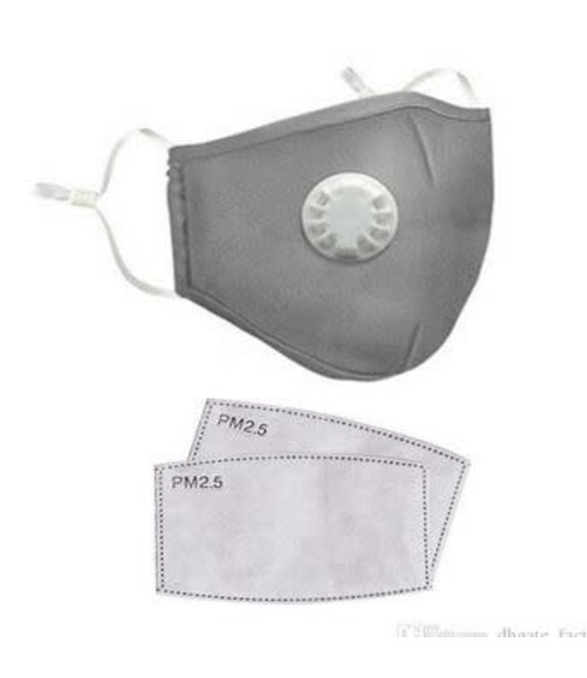 Face Mask Protection Respirator, Gray w/Filters