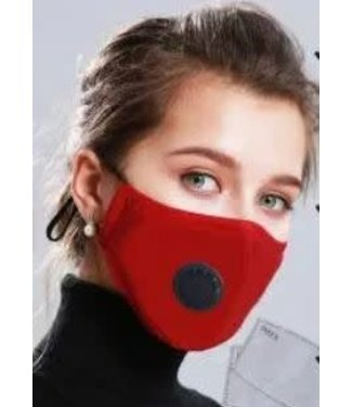 Face Mask Protection Respirator, Red w/Filters -12