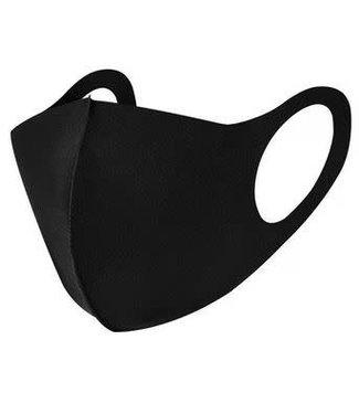Fashion Face Mask, Black Polyester - Adult Size- 12