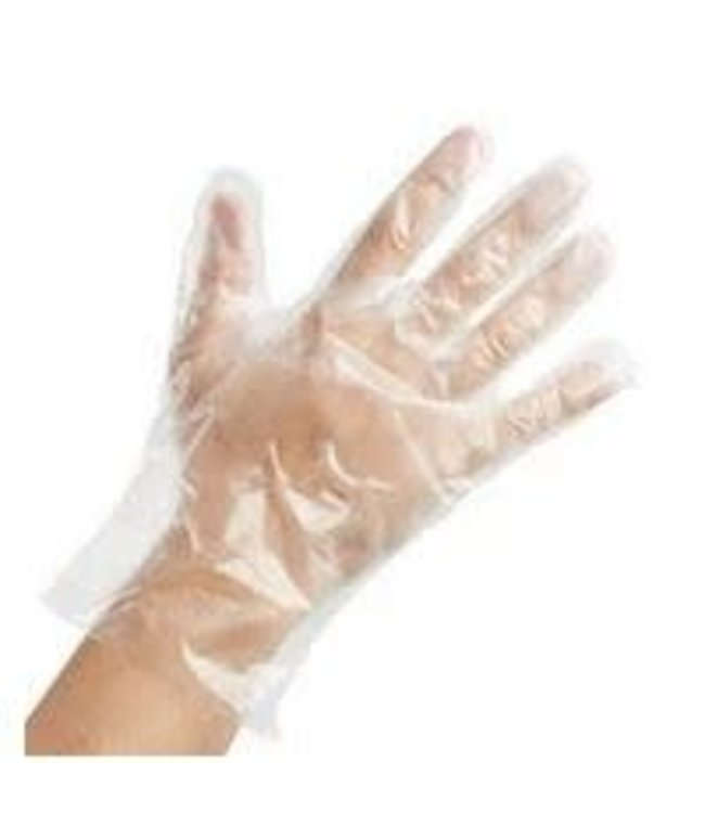 Disposable Poly Gloves, MED 500ct by SmoothTouch