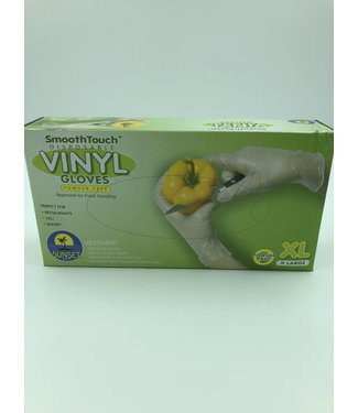Disposable Vinyl Gloves, XL 100ct, Power Free,  by SmoothTouch