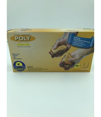 Disposable Poly Gloves Powder Free, U-One Size Fites Most, 250ct by SmoothTouch