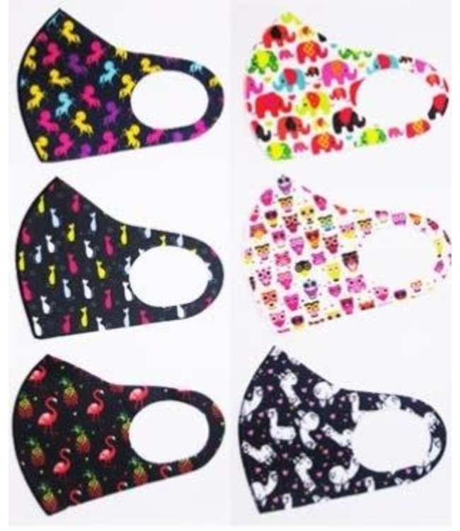 Face Mask Cute Animal, Assorted Prints