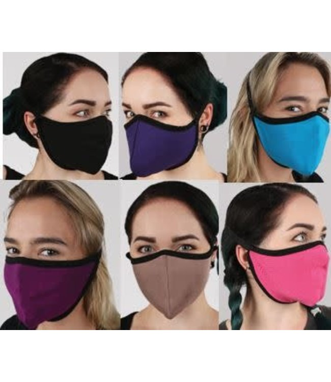 Face Mask Bamboo/Spandex Reversible Solid Color