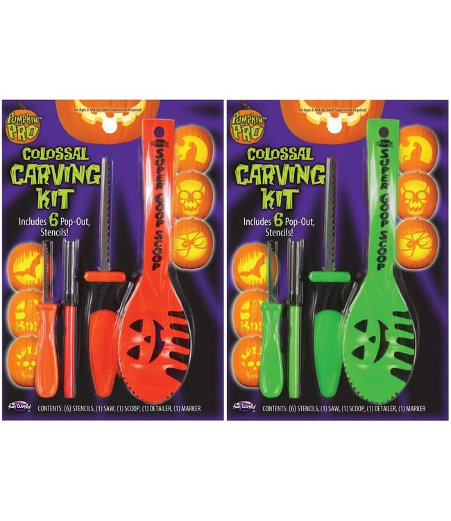Fun World Colossal Carving Kit Assorted Colors /524