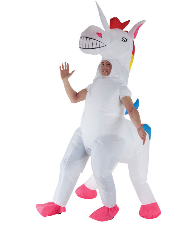 Inflatable Adult Giant Unicorn Costume, Adult Standard