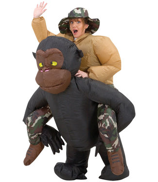 Inflatable Adult Riding Gorilla Costume, Adult Standard