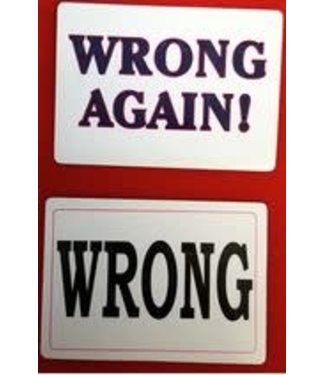 Wrong/Wrong Again Double Sided Card M10